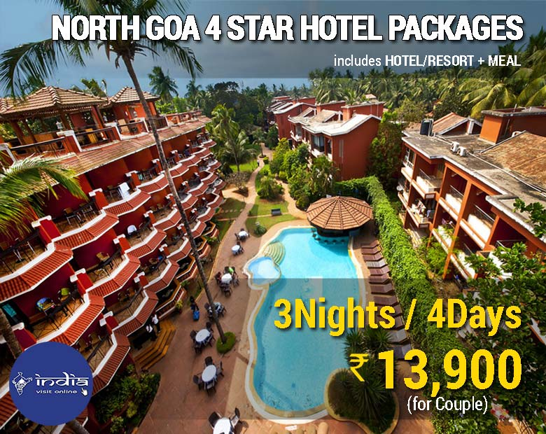 Book North Goa 4 Star Hotel Packages Only @ ₹ 13,900/-