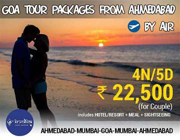 Goa Tour Packages from Ahmedabad