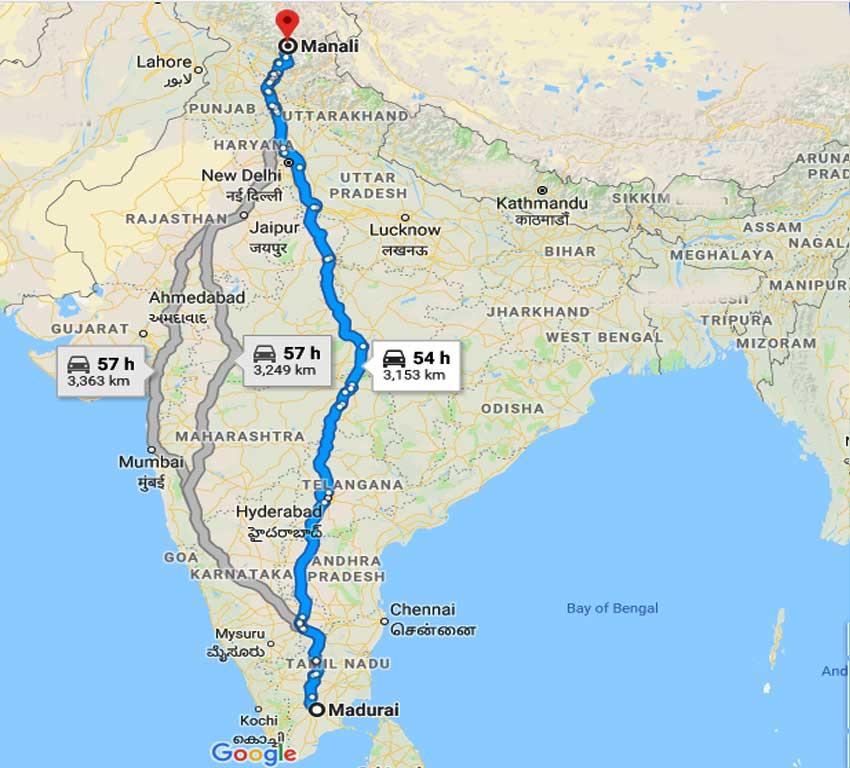 How to Madurai to Manali