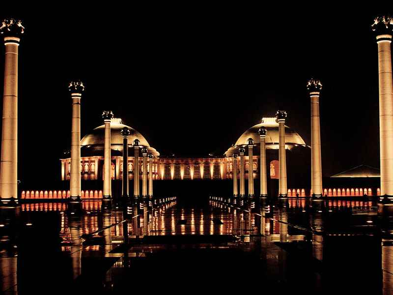 Ambedkar Memorial Park at Night