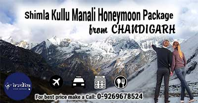 Shimla Kullu Manali Honeymoon Package from Chandigarh