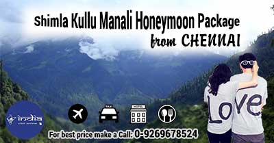 Shimla Kullu Manali Honeymoon Package from Chennai