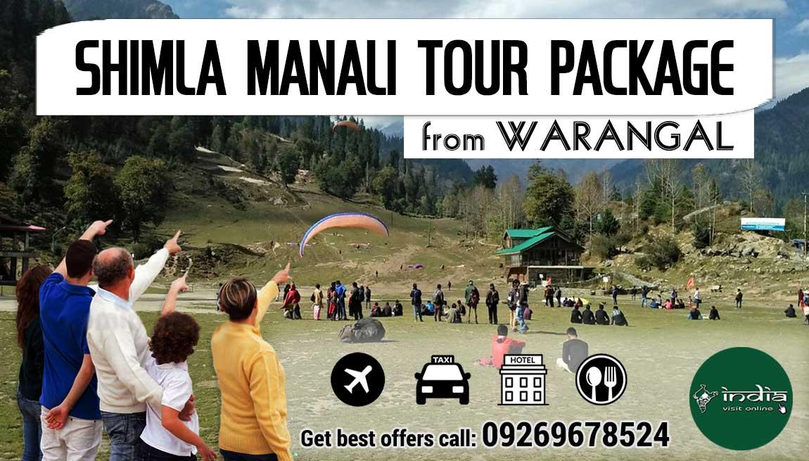 Shimla Manali Tour Package from Warangal